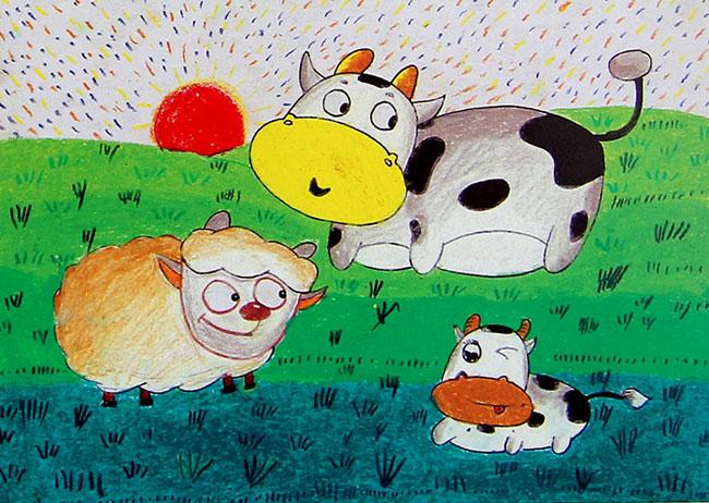 >> 文章内容 >> 儿童画油画棒优秀作品图片  孩子学画画有什么好处?