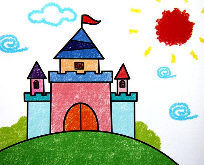 学画卡通画,小学生卡通画图片大全,卡通画图片大全,城堡卡通画高清图片