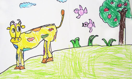 儿童彩笔画作品