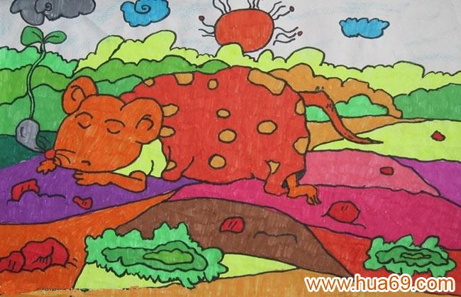 幼儿圣诞节蜡笔彩笔画作品分享展示