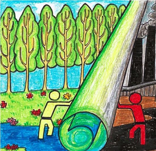 儿童山水画;; 幼儿水墨画; 儿童彩笔山水画图片大全_儿童彩笔山水画图