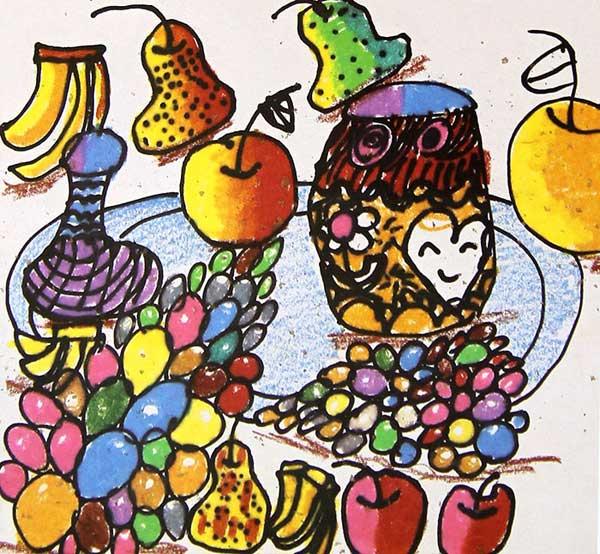 好吃的水果 儿童画彩笔画图片3