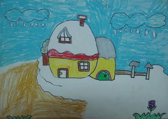 儿童蜡笔画作品欣赏 儿童蜡笔画作品 儿童蜡笔画 007鞋网