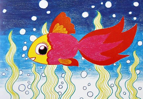 大班美术欣赏 美丽的金鱼图片