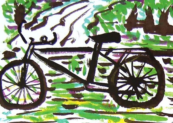 作品 自行车/一辆自行车_儿童画作品