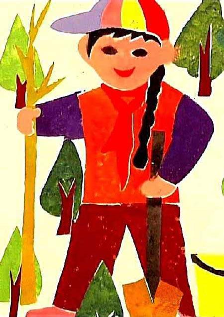儿童画图片大全彩笔画 想象画图片大全彩笔画 彩笔画图片大全花草类