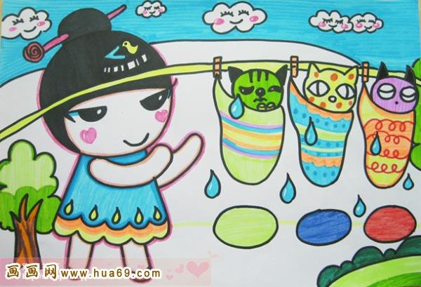 精彩的儿童彩笔画作品