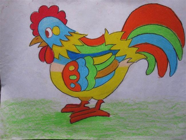 儿童优秀蜡笔画作品图片下载