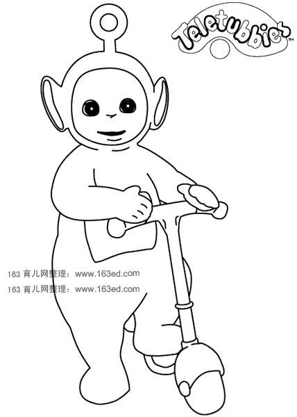 熊猫侧面站立简笔画