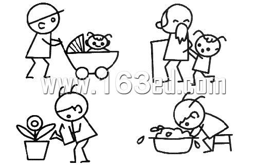 人物简笔画28—简笔画网