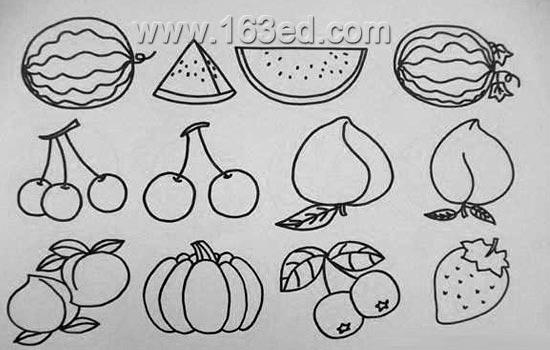 简笔画:蔬菜水果2-简笔画网-有关简单好画蔬菜的图片图片 简单又好