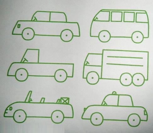 交通工具简笔画 大货车3