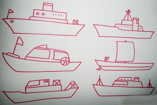 交通工具简笔画:舰艇2