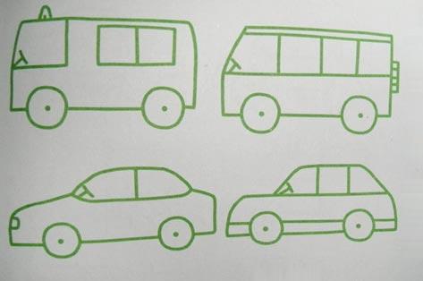 交通工具简笔画 小汽车2