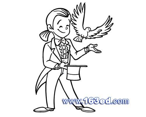 鸟类简笔画 魔术鸟