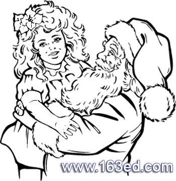 简笔画 圣诞老人12