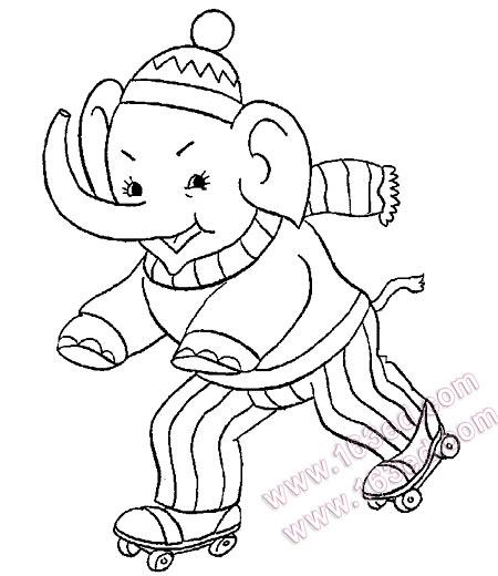 动物简笔画 大象 简笔画网