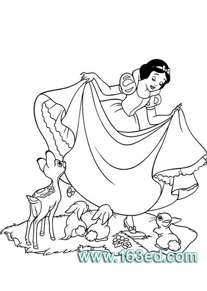 白雪公主简笔画25
