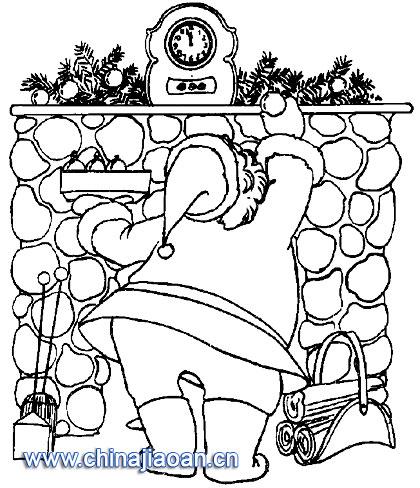 圣诞老人简笔画109