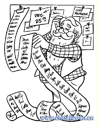 简笔画/圣诞老人简笔画111