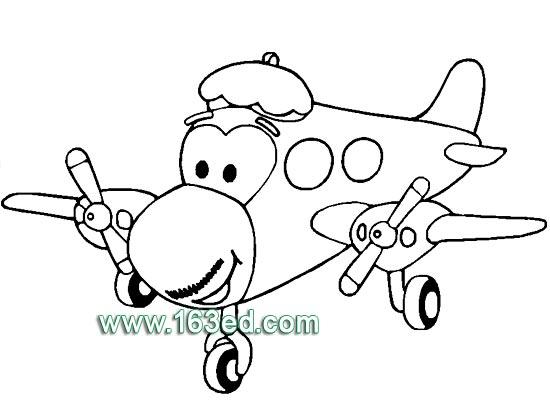 交通工具簡筆畫:飛機9—簡筆畫網