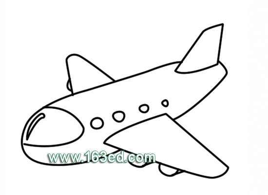 交通工具简笔画 飞机27