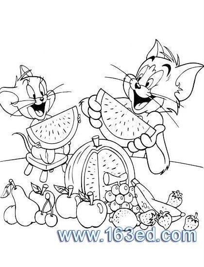 卡通简笔画 猫和老鼠13