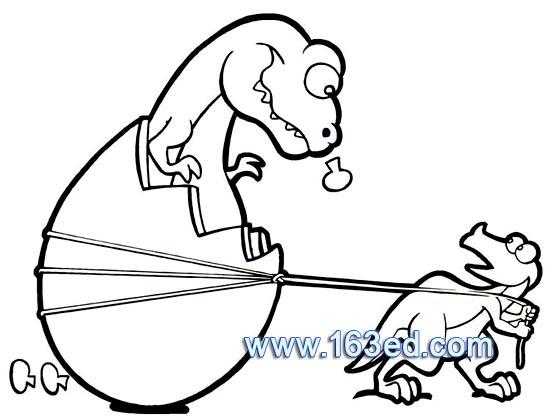 动物简笔画:恐龙11