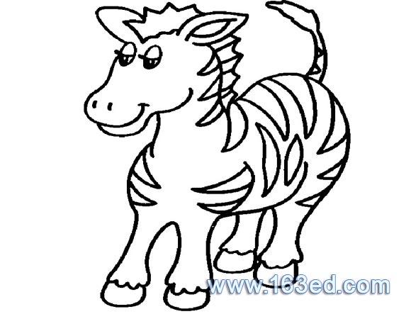 动物简笔画 马13