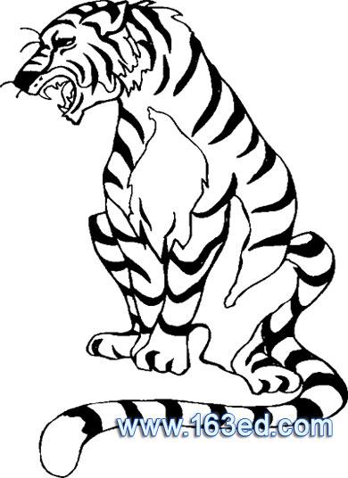 动物拟人化简笔画_手绘