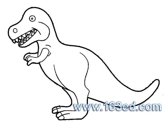 幼儿简笔画 恐龙1