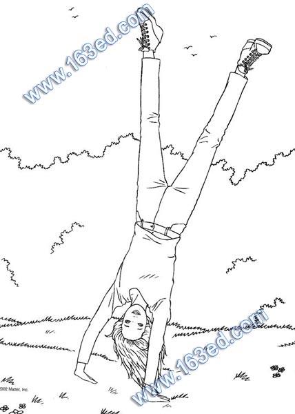 幼儿简笔画:芭比娃娃4—简笔画网
