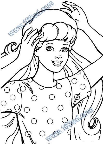 幼儿简笔画:芭比娃娃46