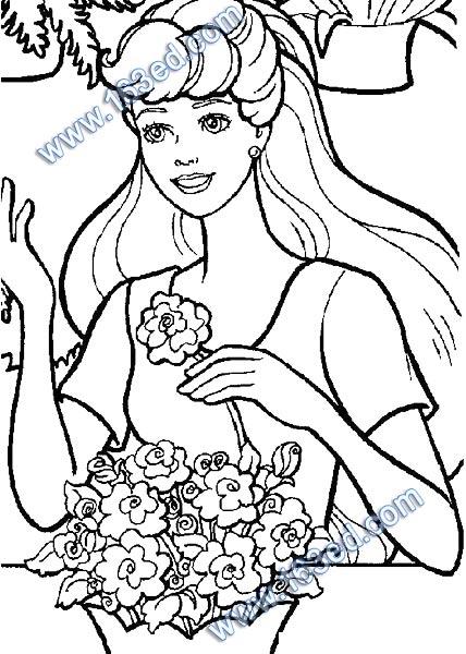 芭比娃娃简笔画 王子和公主