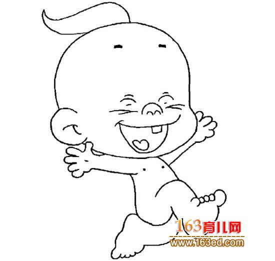 简笔画:快乐的小孩—简笔画网
