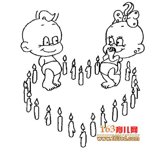 简笔画:小孩过生日—简笔画网