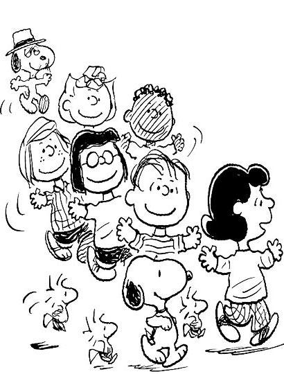 史努比玩耍的简笔画—简笔画网