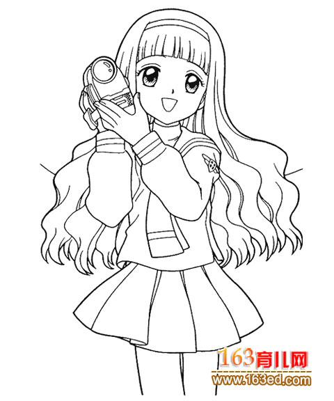 漫画美少女简笔画_漫画美少女简单_漫画美少女侧面简