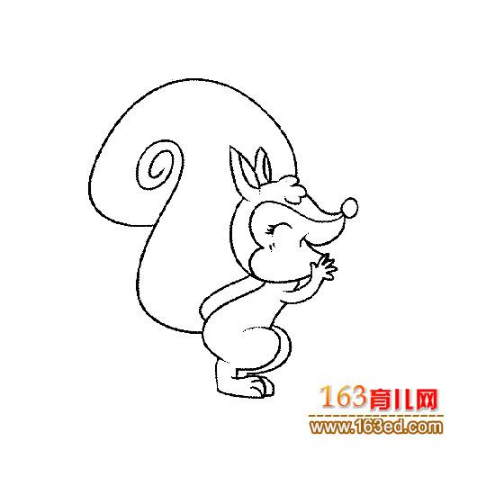 动物简笔画:一只可爱的松鼠6—简笔画网