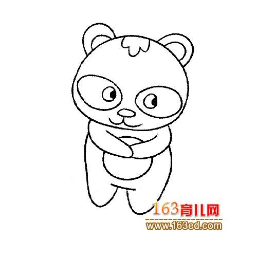 可爱的大熊猫宝宝(动物简笔画)9—简笔画网