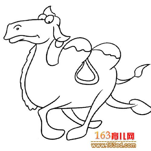 奔跑的骆驼(动物简笔画)1—简笔画网