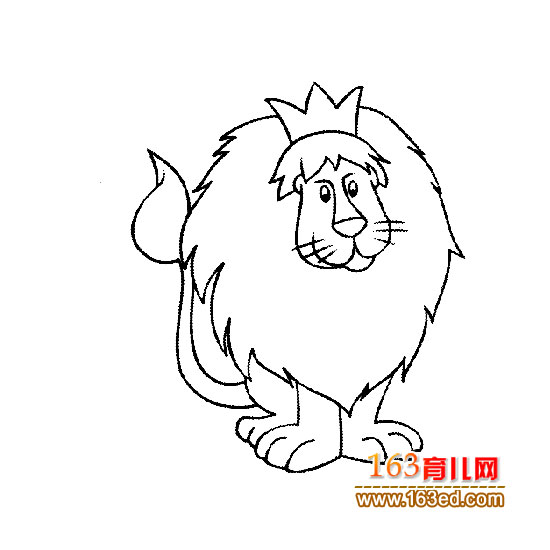 威武的狮子简笔画2