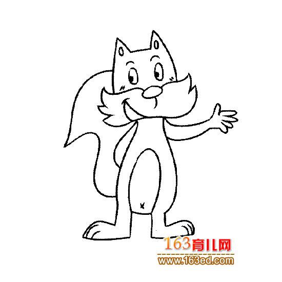 动物简笔画:自信的小松鼠1