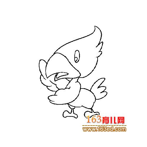小小啄木鸟简笔画1