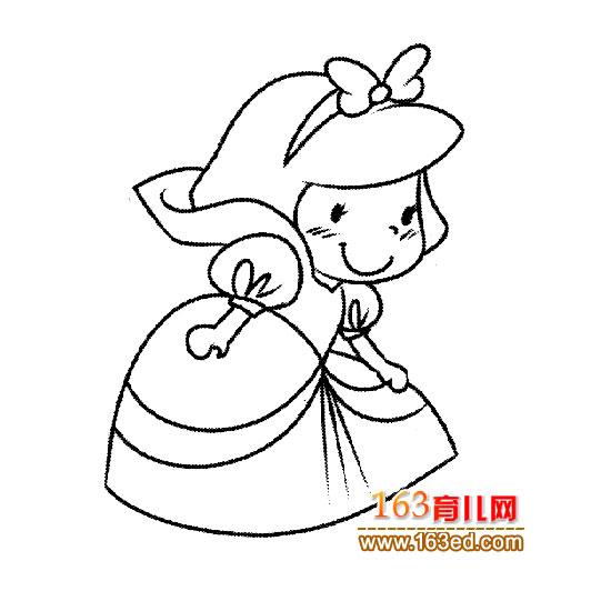 白雪公主(人物简笔画)—简笔画网 www.163ed.com 宽550x550 ...