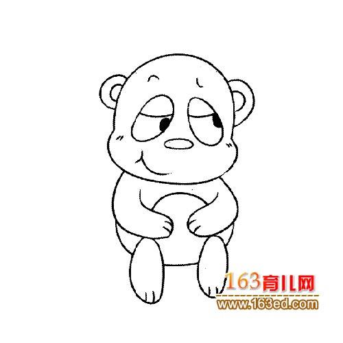 搞怪的大熊猫简笔画2