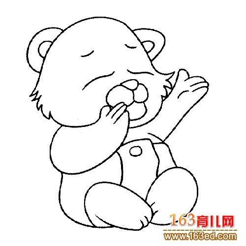 动物简笔画:可爱的大熊猫5