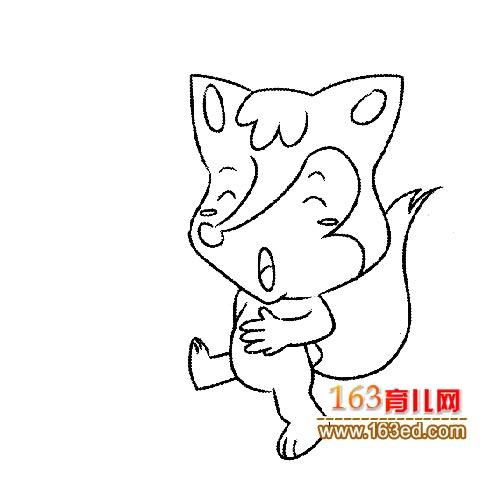 走路的狐狸简笔画—简笔画网