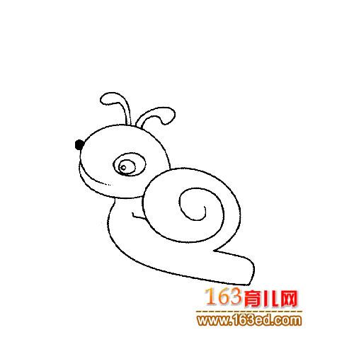 一只小蜗牛的简笔画1