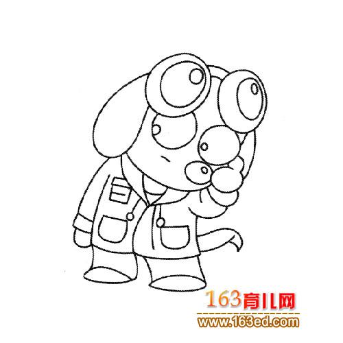 调皮的小狗简笔画3